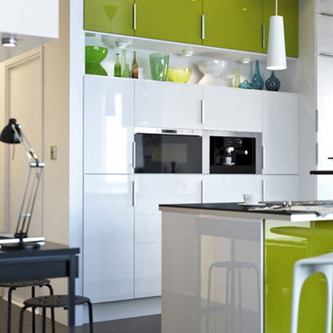 Digital image of IKEA kitchen