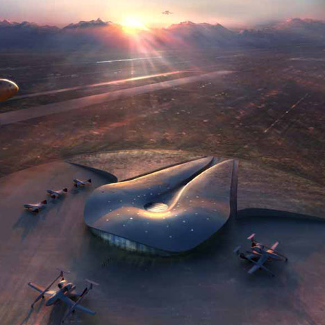 New Mexico spaceport by Foster