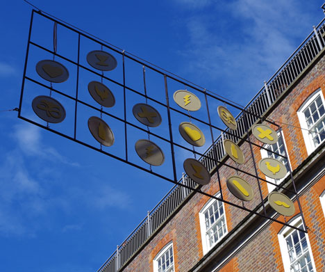Seven Designers for Seven Dials installations curated by Dezeen