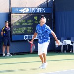 Two-handled tennis racket spotted at the U.S. Open