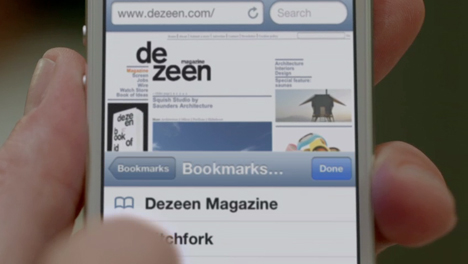Dezeen features in Apple's iPhone 5 launch