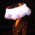 LED hats by Moritz Waldemeyer for Philip Treacy