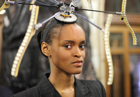 Hats by Moritz Waldemeyer for Philip Treacy
