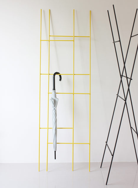 Ladder Coat Rack by Yenwen Tseng