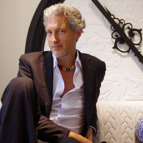 Marcel Wanders at Moooi showroom