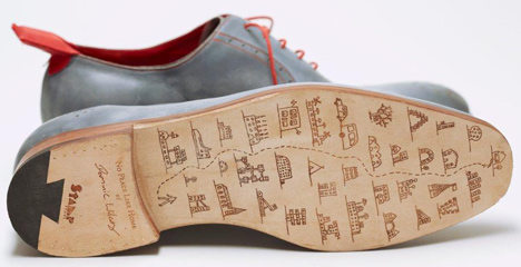 No Place Like Home GPS shoes by Dominic Wilcox