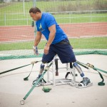 Paralympic design: discus throwing frame