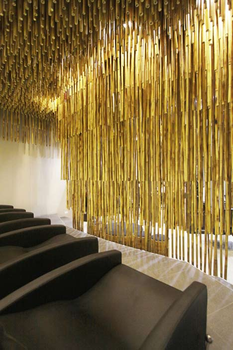 Salon In Bangkok With Bamboo Poles By Nkdw