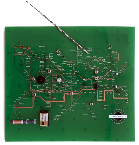 Tube Map Radio and Denki Puzzle by Yuri Suzuki