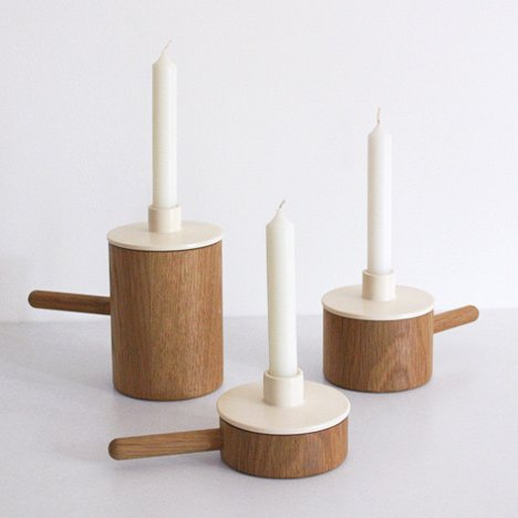 Another Ceramic Candlestick by Marie Dessuant for Another Country