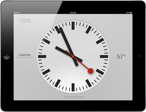 Apple uses Swiss rail operator's clock design