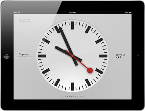 Apple uses Swiss rail operator's clock design
