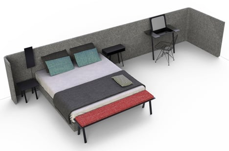 Area Bed by Alain Gilles for Magnitude