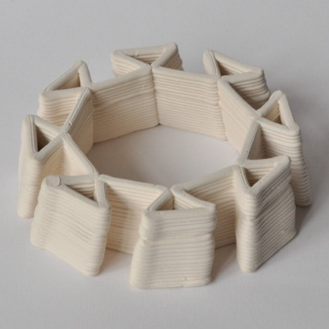 Building Bytes 3D printed bricks by Brian Peters