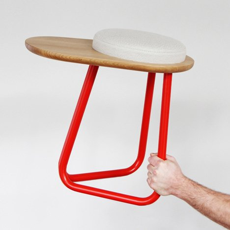Chair 01 and Stool 01 by Daphna Laurens