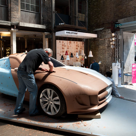 Movie: Jaguar clay modelling at Clerkenwell Design Week