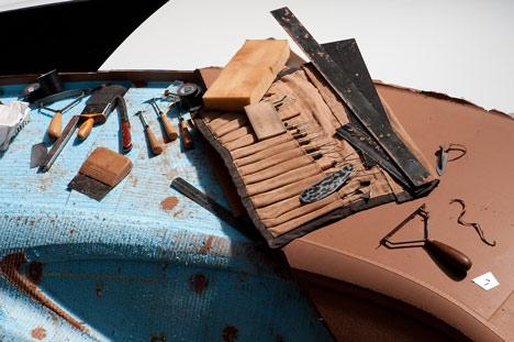 Movie: Jaguar clay modelling at Clerkenwell Design Week