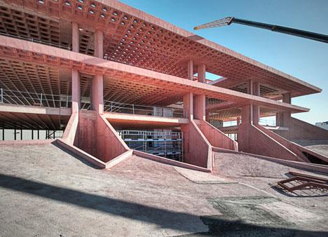 New waffle slab construction makes suspended ceilings redundant