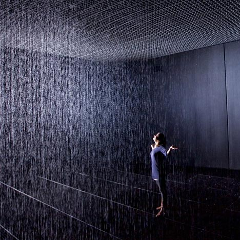Rain Room by rAndom International<br /> at the Barbican