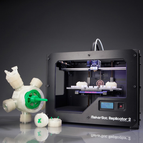 A MakerBot Replicator 3D-printer was found at the crime scene.