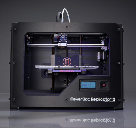 Makerbot's Replicator 2 3D printer, launched in October 2012