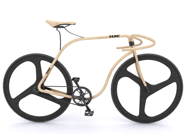 Wooden Thonet Concept Bike By Andy Martin Studio