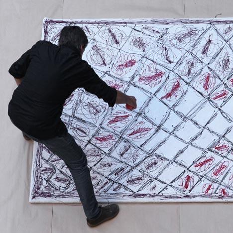 Painted rug by Martí Guixé
