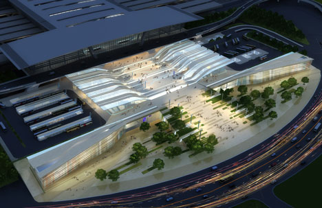 Tianjin Binhai Transport Interchange public domain by Hassell