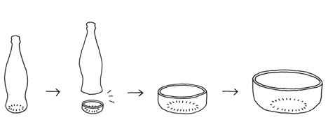 Bottleware by Nendo for Coca-Cola