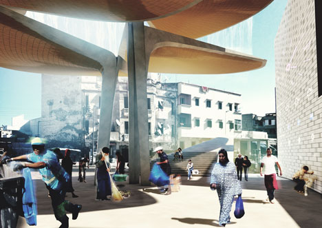 Casablanca Sustainable Market Square by TomDavid Architecten
