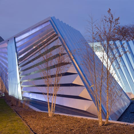 Eli and Edythe Broad Art Museum by Zaha Hadid