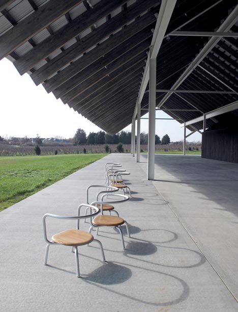Furniture by Konstantin Grcic and Emeco for the Parrish Art Museum