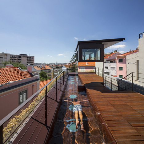 Dezeen house in travessa do patrocinio by luis rebelo de andrade 9sq