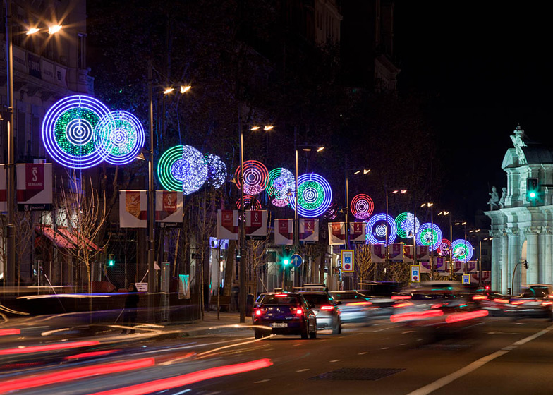 Dezeen Magazine - Christmas Lights In Madrid By Teresa Sapey