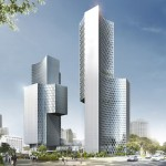 DUO skyscrapers by Buro Ole Scheeren