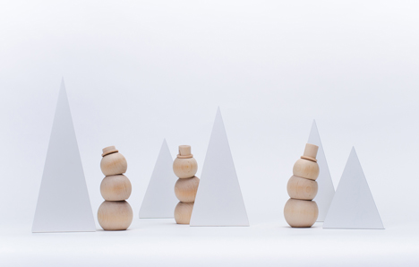 Stackable Snowmen and Happy Little Trees by Fruitsuper Design