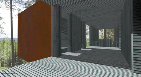 Twenty-ton treehouse under construction in Sweden
