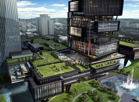 Zoomlion Headquarters International Plaza by amphibianArc