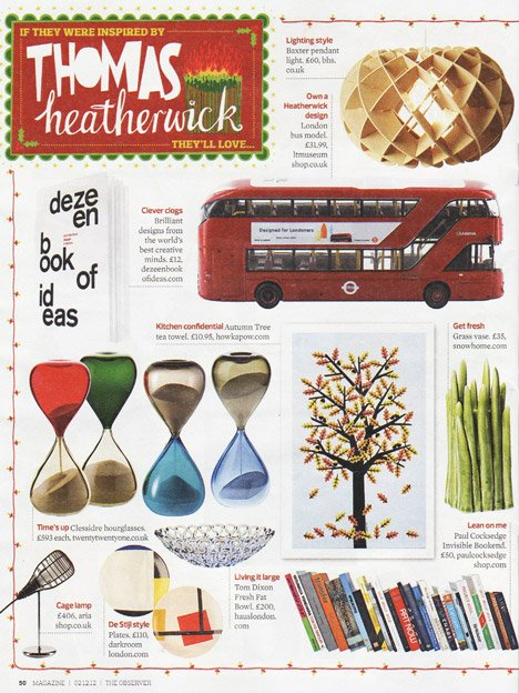 Dezeen Book of Ideas in Observer Christmas gift guide
