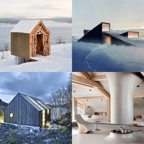 Dezeen archive: winter retreats