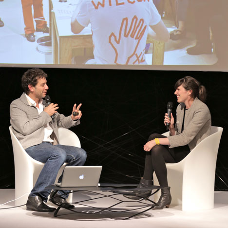 """There's a real sense of urgency for a more critical design"" - Beatrice Galilee at Dezeen Live"