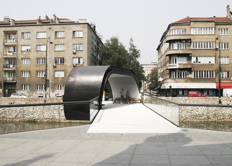 Festina Lente Looping Bridge At Academy Of Fine Arts In Sarajevo