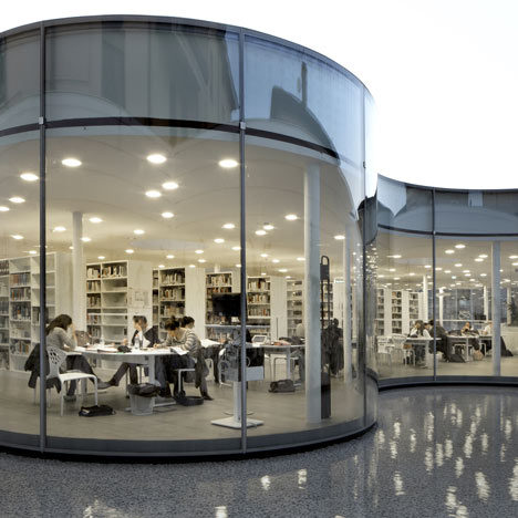 New Town Library in Maranello by Arata Isozaki and Andrea Maffei