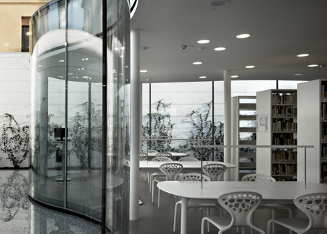 New Town Library in Maranello by Arata Isozaki and Andrea Maffei