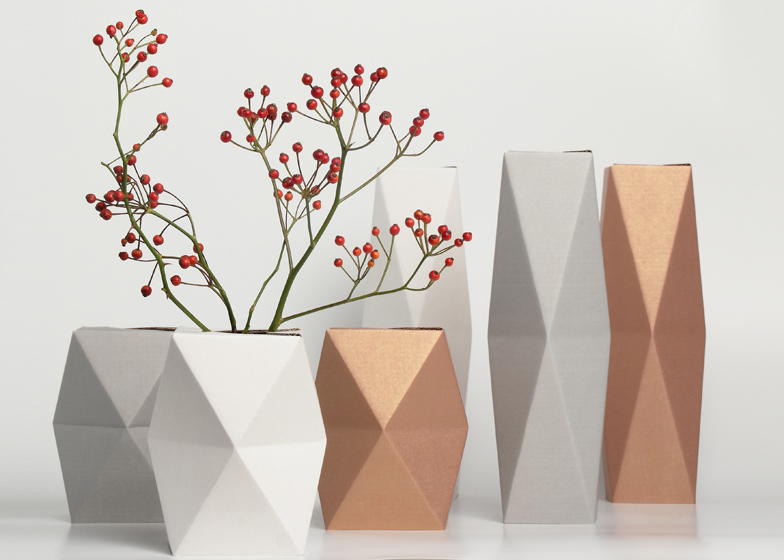 Cardboard Snug Vases By Snugudio
