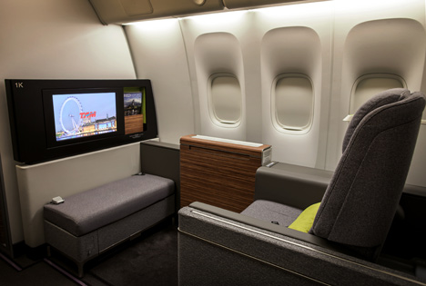 TAM First Class Cabin by Priestmangoode