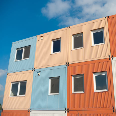 Shipping container homes in Zwolle