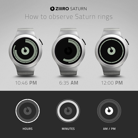 Saturn by Ziiiro at Dezeen Watch Store