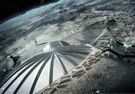 Foster + Partners to 3D print buildings on the moon