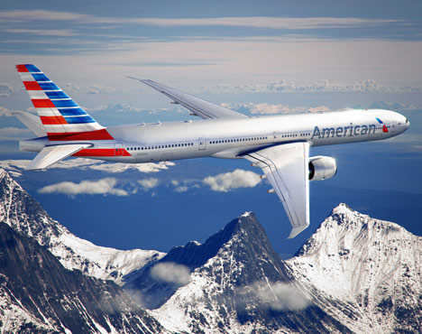 American Airlines logo and livery